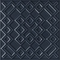 Flow 3 Smoky Blue Ceramic Wall Tile - 8 x 8 in