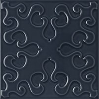 Flow 4 Smoky Blue Ceramic Wall Tile - 8 x 8 in