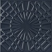 Flow 5 Smoky Blue Ceramic Wall Tile - 8 x 8 in