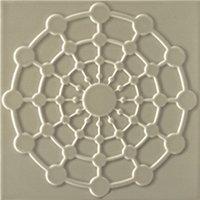 Flow 2 Greige Ceramic Wall Tile - 8 x 8 in