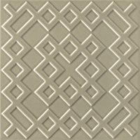 Flow 3 Greige Ceramic Wall Tile - 8 x 8 in