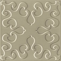 Flow 4 Greige Ceramic Wall Tile - 8 x 8 in