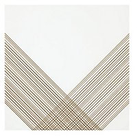 Outline 2 White Gold AC Ceramic Wall Tile - 11 x 11 in