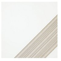 Outline 3 White Gold AC Ceramic Wall Tile - 11 x 11 in