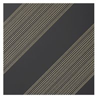 Outline 1 Black Gold AC Ceramic Wall Tile - 11 x 11 in