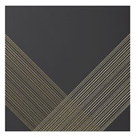 Outline 2 Black Gold AC Ceramic Wall Tile - 11 x 11 in
