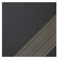 Outline 3 Black Gold AC Ceramic Wall Tile - 11 x 11 in