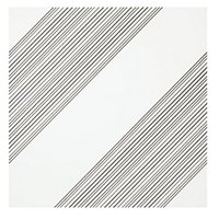 Outline 1 White Silver AC Ceramic Wall Tile - 11 x 11 in