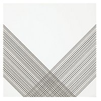 Outline 2 White Silver AC Ceramic Wall Tile - 11 x 11 in