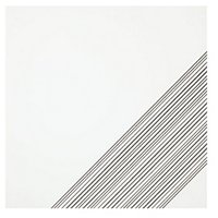 Outline 3 White Silver AC Ceramic Wall Tile - 11 x 11 in