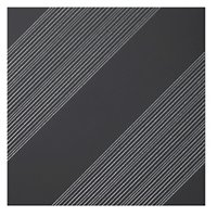 Outline 1 Black Silver AC Ceramic Wall Tile - 11 x 11 in