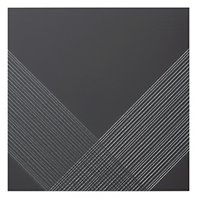 Outline 2 Black Silver AC Ceramic Wall Tile - 11 x 11 in