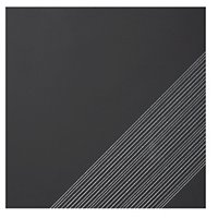 Outline 3 Black Silver AC Ceramic Wall Tile - 11 x 11 in