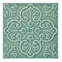 Twenty TD Green BR 2 Porcelain Wall Tile - 7 x 7 in