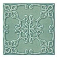 Twenty TD Green BR 4 Porcelain Wall Tile - 7 x 7 in