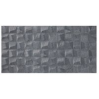 Cube Silver AC Ceramic Wall Tile - 18 x 35 in