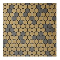 Patchwork Black AC Ceramic Wall Tile - 7 x 7 in