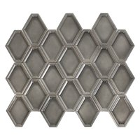 Nova Hex Graphite Ceramic Mosaic Tile - 5 x 5.5 in.