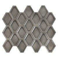 Nova Hex Graphite Ceramic Mosaic Tile - 5 x 5.5 in.