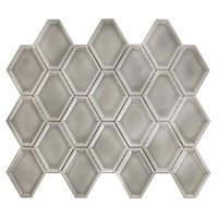 Nova Hex Smoke Ceramic Mosaic Tile - 5 x 5.5 in.