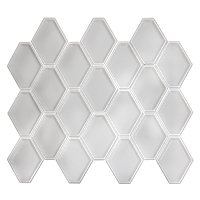 Nova Hex Bianco Ceramic Mosaic Tile - 5 x 5.5 in.