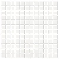 Matte White 1 In Porcelain Mosaic Wall And Floor Tile