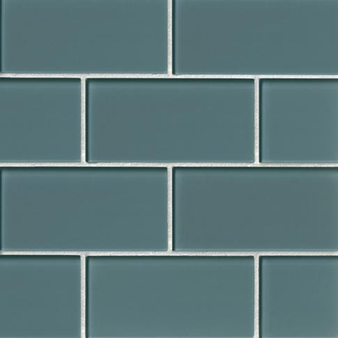 Aloe Glass Subway Tile - 3 x 6 in.