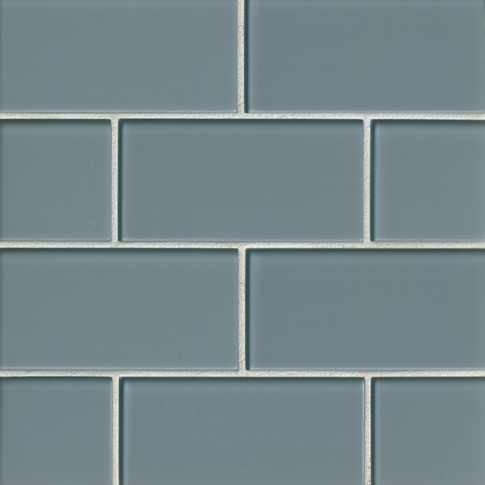 Water Glass Subway Tile - 3 x 6 in.