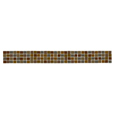 Amethyst Glass Blend Listello Glass Mosaic Tile - 1.75 x 12 in.