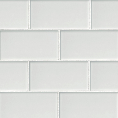 Snow Frost Glass Subway Tile - 3 x 6 in.
