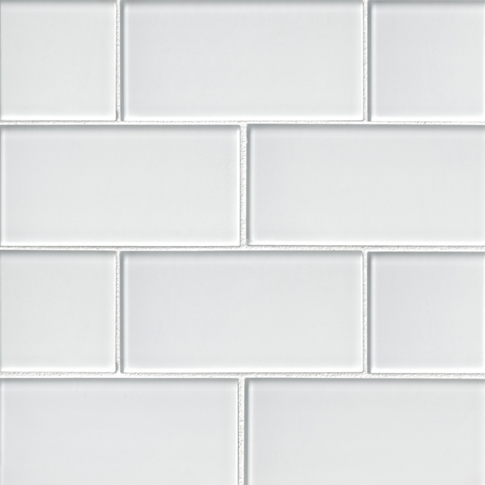 Snow Glass Subway Tile - 3 x 6 in.