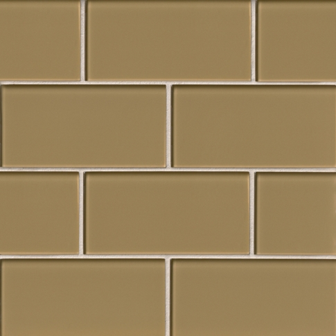 Wheat Glass Subway Tile - 3 x 6 in.