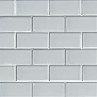 Snow Glass Amalfi Glass Mosaic Tile - 2 x 4 in.
