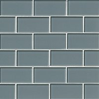 Water Glass Amalfi Glass Mosaic Tile - 2 x 4 in.