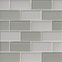 Beach Blend Glass Amalfi Glass Mosaic Tile - 2 x 4 in.