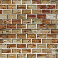Glass Ottawa Brick Glass 1 x 2 in