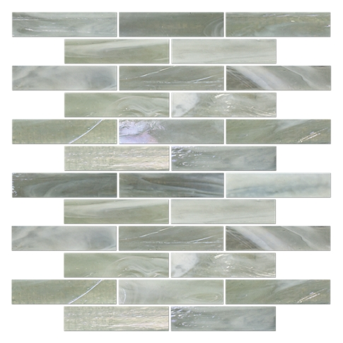 Redmond Glass Mosaic Tile - 1 x 4 in.