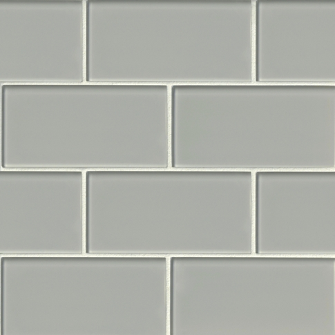 Platinum Glass Subway Tile - 3 x 6 in.