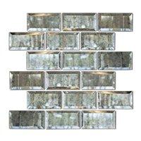 Antique Mirror Bevel Amalfi Glass Wall Tile