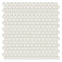 Penny Round Milk Porcelain Mosaic Tile