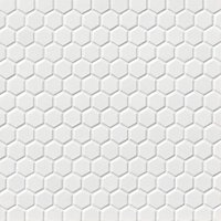 Hex Gloss White Porcelain Mosaic Tile - 1 x 1 in.