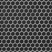 Hex Matte Black 1 x 1 in