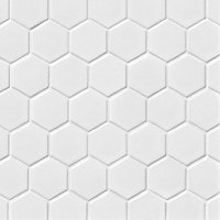 Hex Gloss White Porcelain Mosaic Tile - 2 x 2 in.
