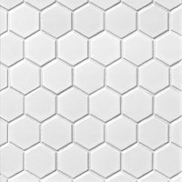 Hex Matte White Porcelain Mosaic Tile - 2 x 2 in.