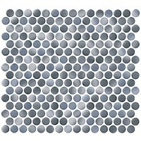 Penny Round Cloudy Porcelain Mosaic Tile