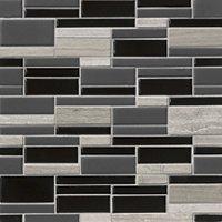 Shorewood Blend Porcelain Mosaic Wall Tile