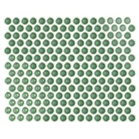 Penny Round Sage Gloss Porcelain Mosaic Wall and Floor Tile