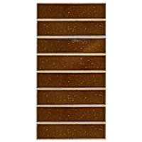 Succession Brick Chestnut Porcelain Mosaic Wall and Floor Tile - 2 x 8 in