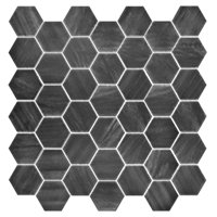 Boardwalk Charcoal Hex Porcelain Mosaic Wall and Floor Tile 2 in