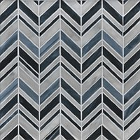 Alato Midnight Chevron Glass Mosaic Wall Tile